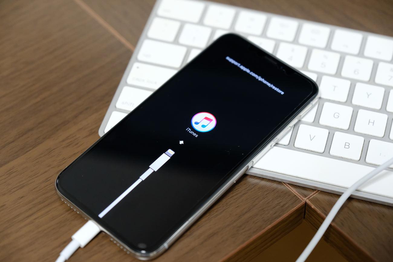 iPhone X/XSのリカバリーモードを起動する