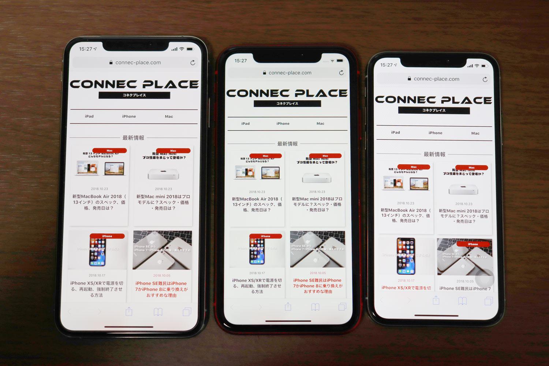 iPhone 画面表示の大きさ