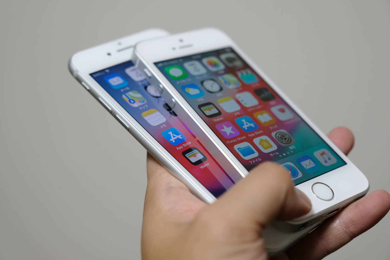 iPhone 7/8とiPhone SE デザインの違い